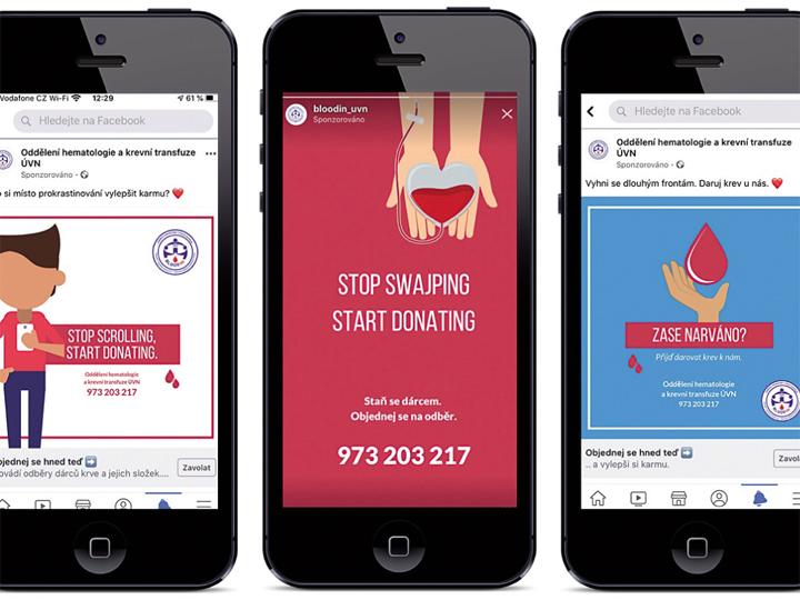 Propagace a edukace k dárcovství krve pomocí sociálních sítí