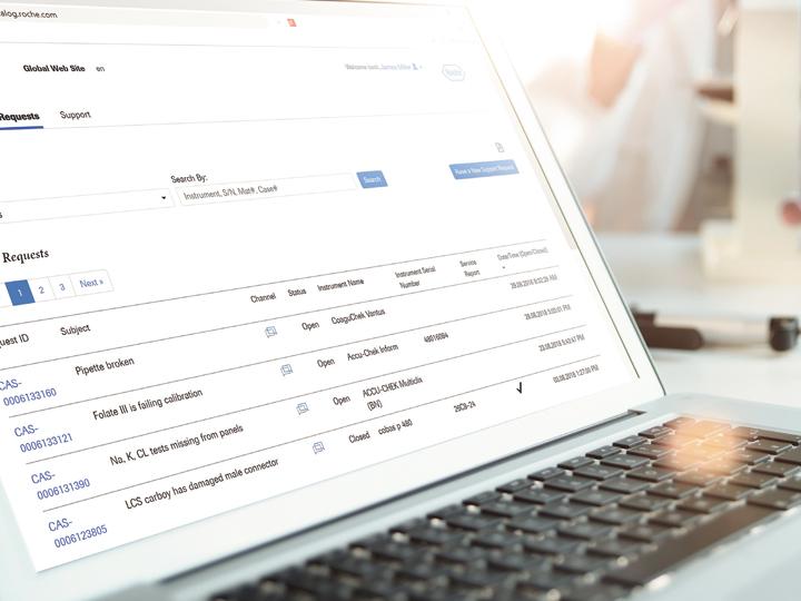 Požadavek podpory – snadný a flexibilní způsob zákaznické podpory na portálu Roche Dialog